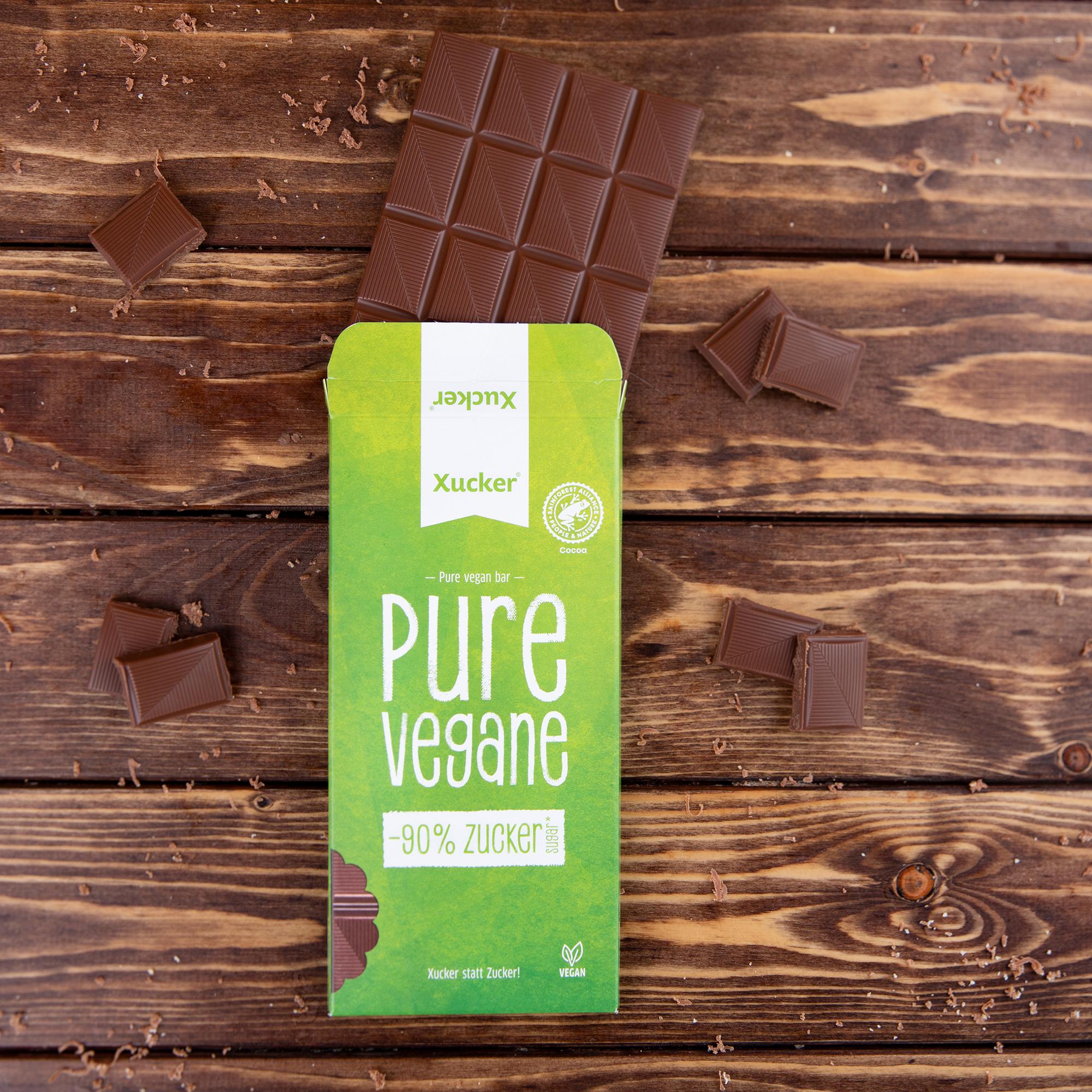 Vegane Schokolade Pure Vegane ohne Zuckerzusatz