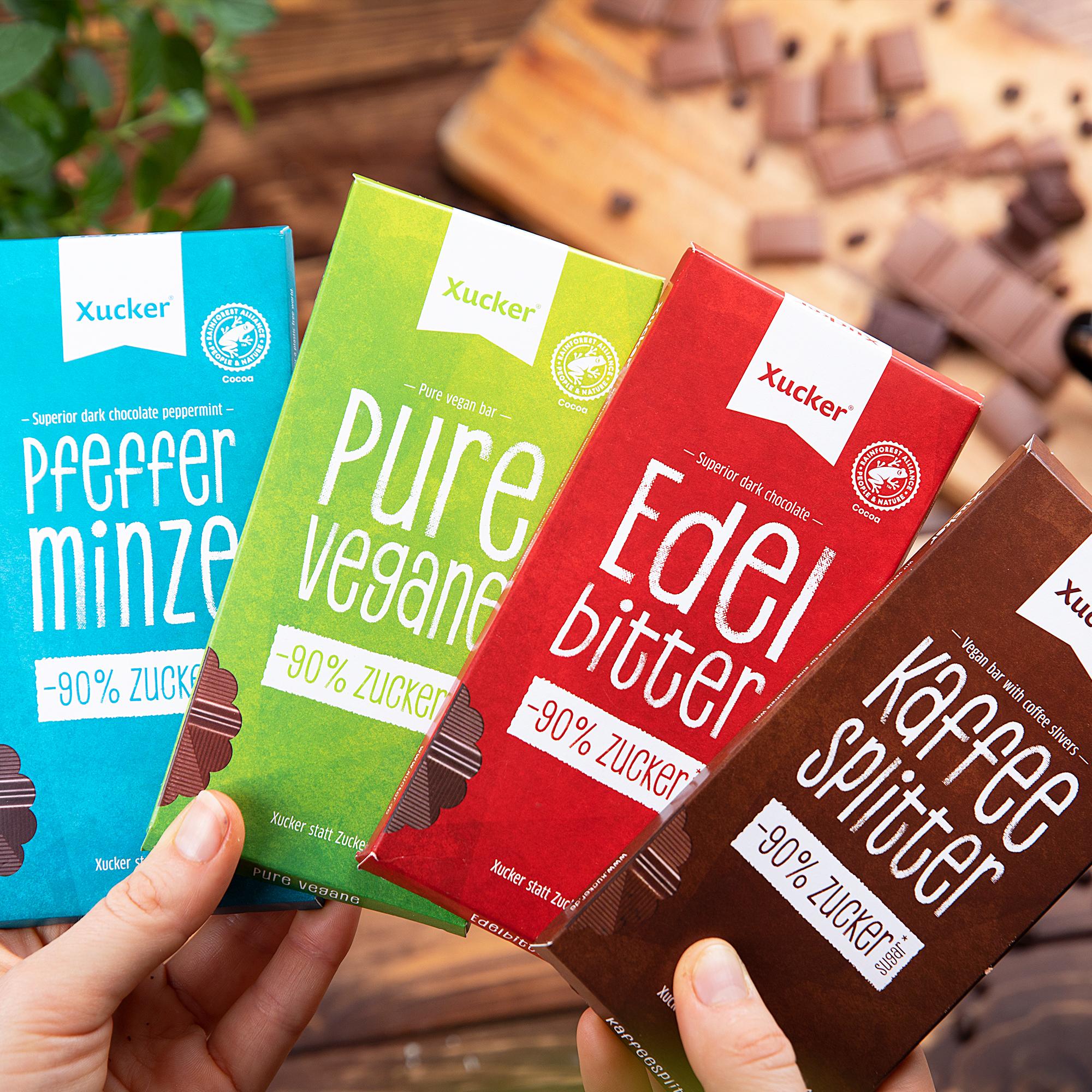Vegane Schokolade 4er-Set