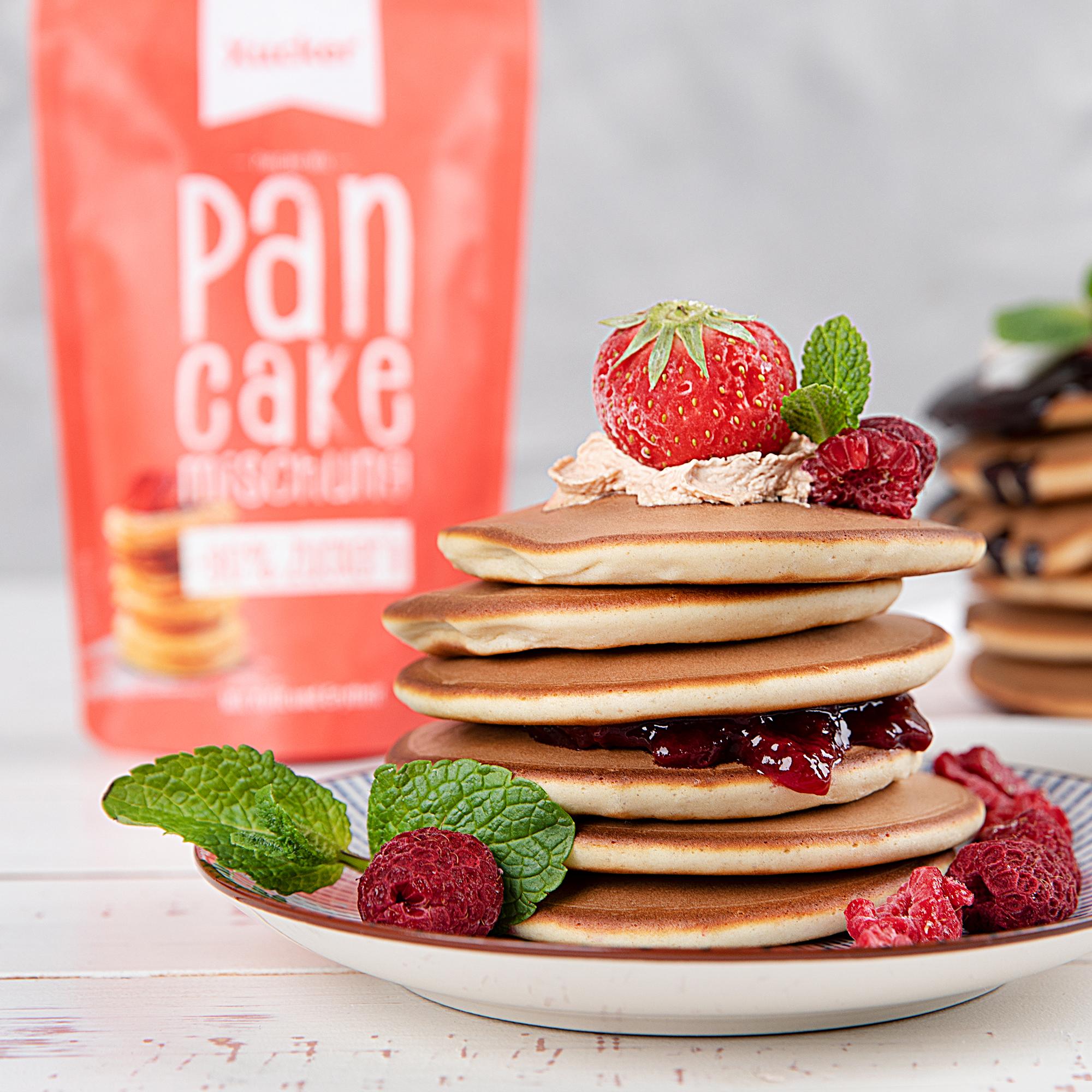 Zuckerarme-Pancakemischung