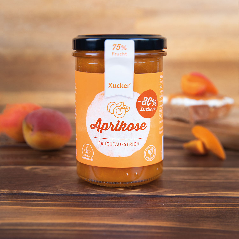 Xucker Fruchtaufstrich Aprikose mit Xylit