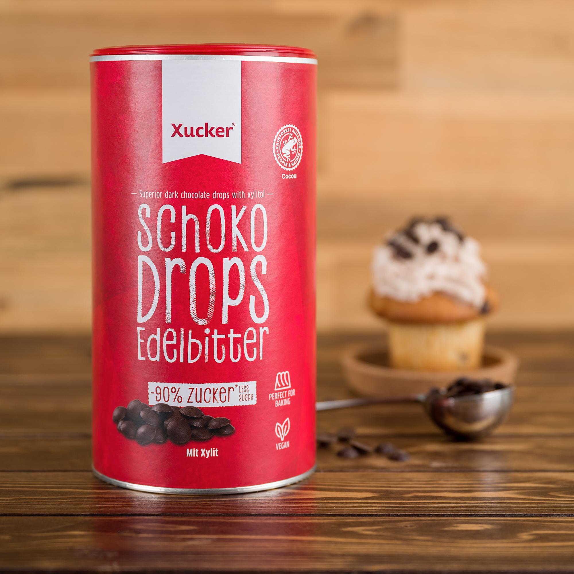 Xucker Schoko-Drops Edelbitter groß